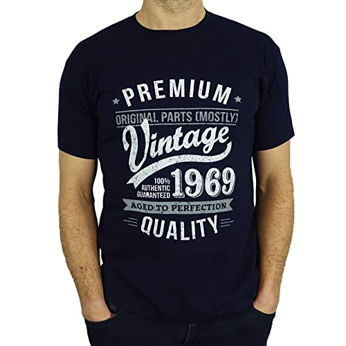 8dc2f80bb 1969 Vintage Year - Aged To Perfection - 50th Birthday Gift / Present Mens T -