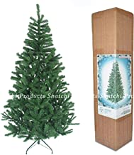 SHATCHI 1,5 m/5 ft Kerst Groen Kunstmatige Traditionele Boom 390 Tips met Metalen Stand Xmas Home Decoraties, Kunststof, 5 ft