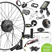 EBIKELING 36V 500W 700C Geared Front Or Rear Waterproof Electric Bicycle Conversion Kit