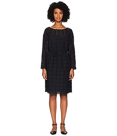Sonia Rykiel Broderie Anglaise Carreau Long Sleeve Dress