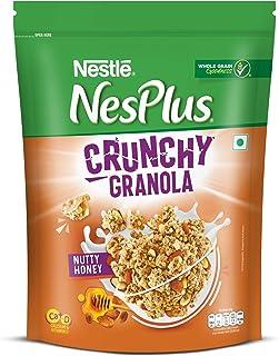 Nestle NesPlus Breakfast Cereal - Crunchy Granola with Nutty Honey, 475g Pouch