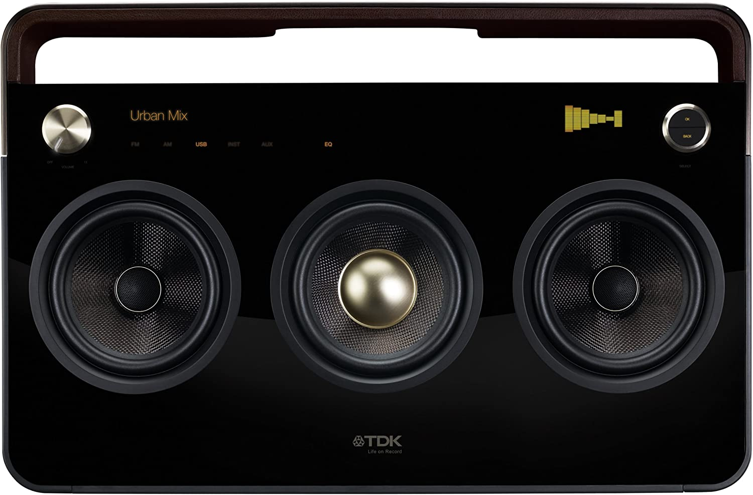 TDK Life on Record 8 8-Speaker Boombox Audio System