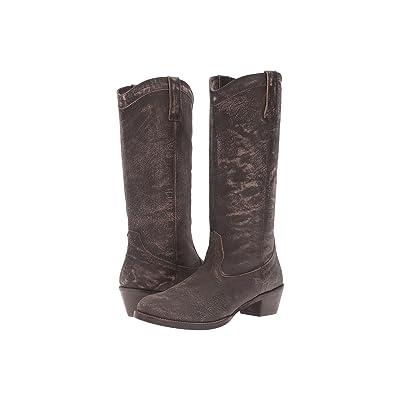 Roper Reba (Brown Sanded Leather) Cowboy Boots