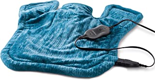 Sunbeam Heating Pad for Neck & Shoulder Pain Relief   XL Renue, 4 Heat Settings with Auto-Off   Blue, 25-Inch x 25-Inch