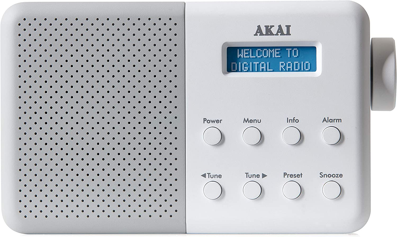 /& FM Radio Black A61041B Portable Mains and Battery Powered Akai A61041B DAB//DAB Digital