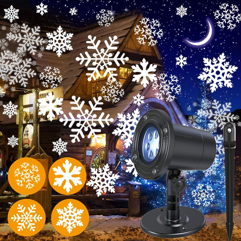 NUÜR Time Columbus Mall sale Rotating Snowflake Christmas Projector for Lights Festiv