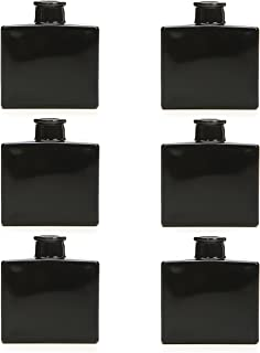 Hosley's Set of 6 Black Glass Vase / Bottle - 35 ml Ideal Gift for Use with Essential Oils, Hosley Replacement Diffusers & Hosley Reed Sticks, Diy, Crafts. Spa, Meditation, Reiki O4