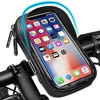 Pezimu Fietsstuurtas | telefoonhouder voor fiets en motorfiets | waterdichte telefoonhouder stuurtas houder | 360°...