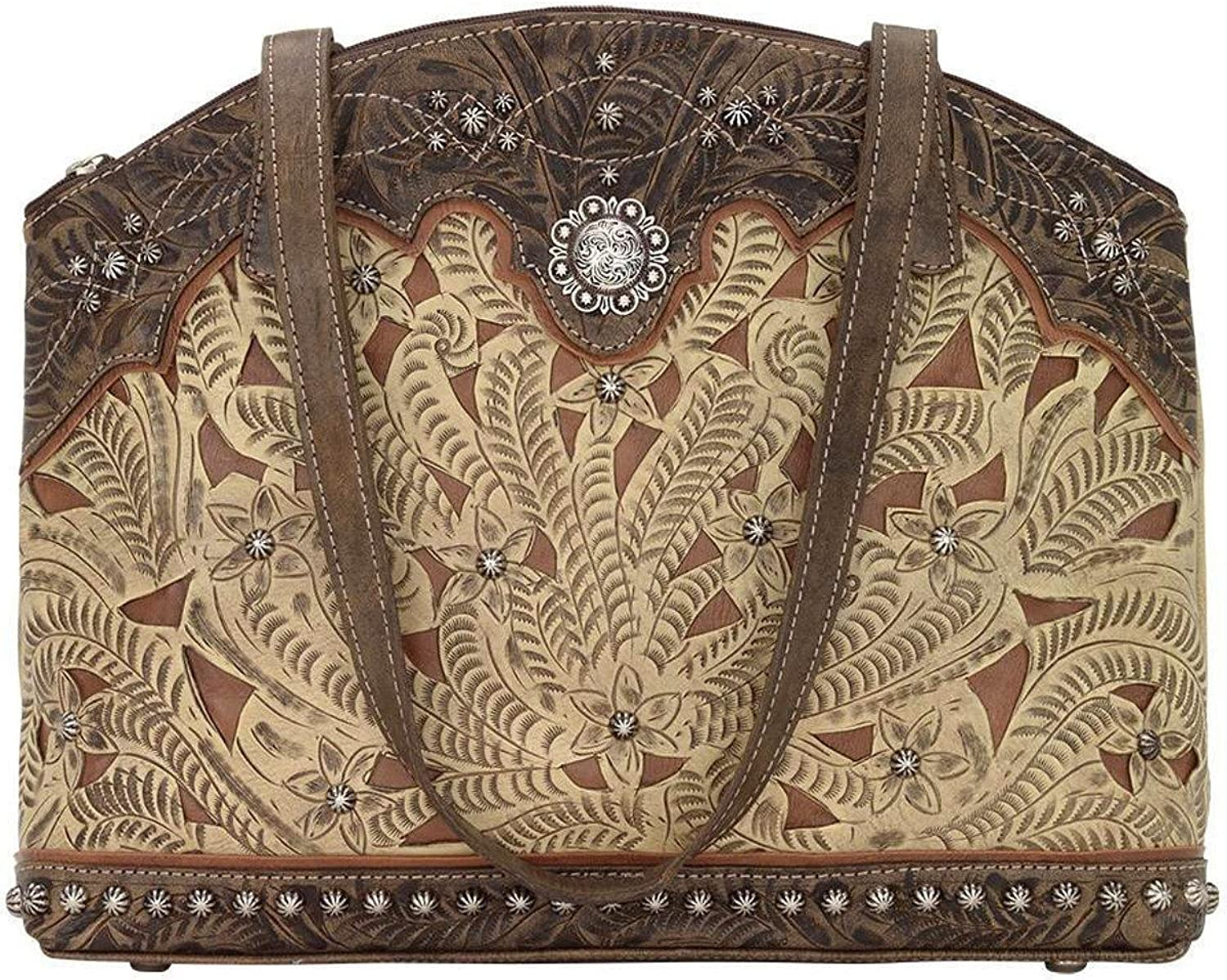 American West Women's Annie's Conceal Carry Half Moon Purse Sand One Size