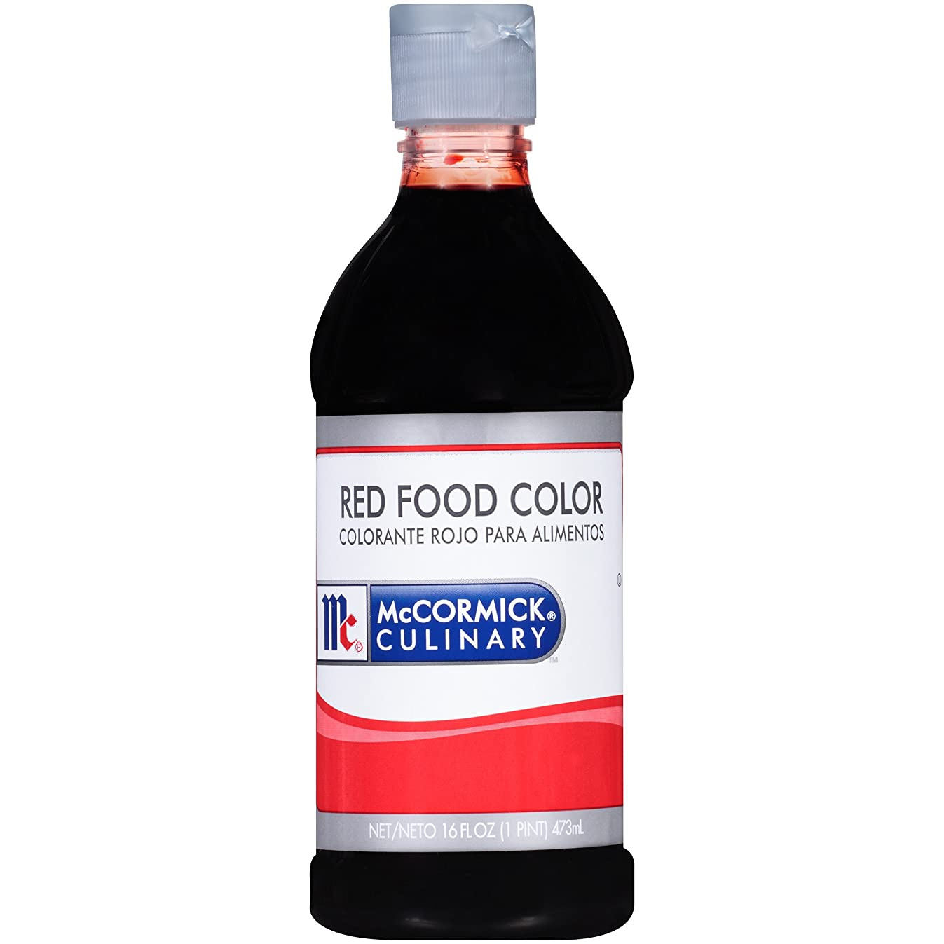 McCormick Culinary Red Food Color, 16 fl oz, Premium Quality, Consistent Color, Perfect for Valentine's Cupcakes, Easter Eggs, Red Velvet Desserts and More