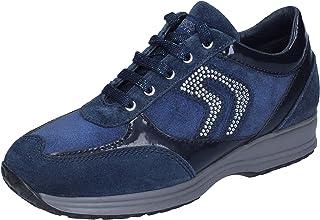 Geox Sneaker Bambina Pelle Scamosciata Blu