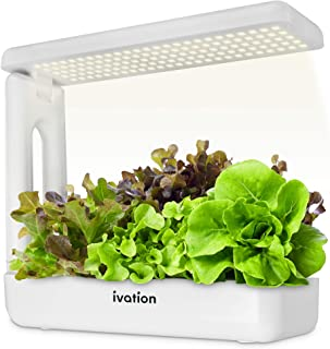Ivation Herb Indoor Garden Kit | Complete Hydroponic Grow System for Herbs, Plants & Vegetables with LED Light, Seeding Bo...