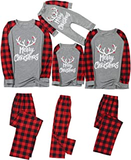 Fossen MuRope Pijamas Familiares Iguales, Pijamas de Navidad Familia Conjunto, Pijama Hombre Divertido Mujer Niño Bebe Bar...