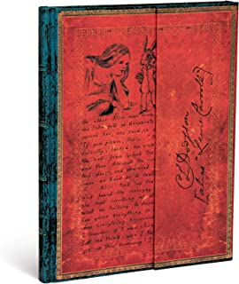 Paperblanks Diari a Copertina Rigida Lewis Carroll, Alice nel Paese delle Meraviglie | Righe | Ultra (180 × 230 mm)
