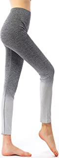 Ombre Yoga Pants Ultrasoft Performance Active Stretch High Waisted Running Leggings