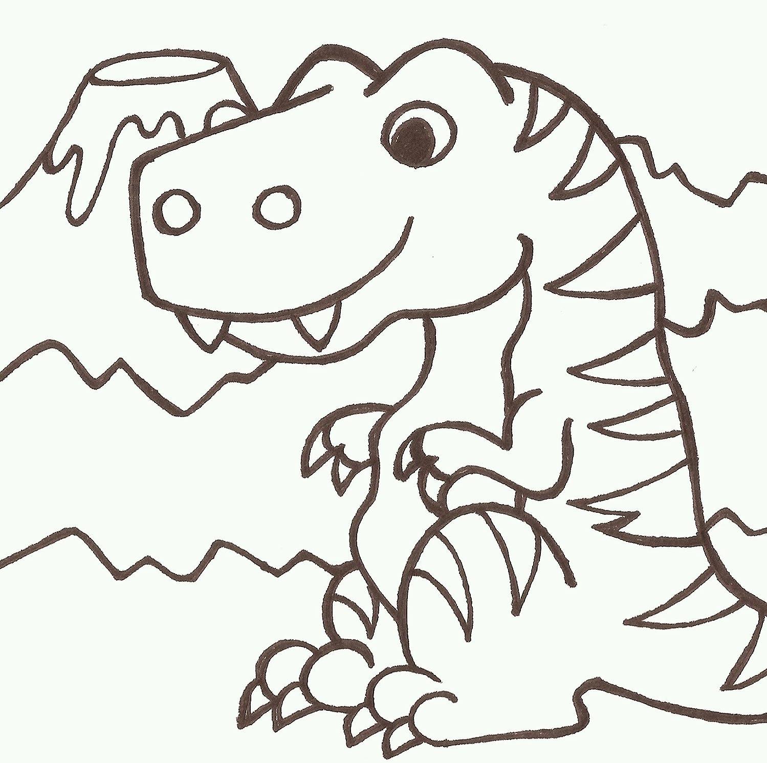 PaintaDoodle 12 x 12 T-Rex Painting Kit