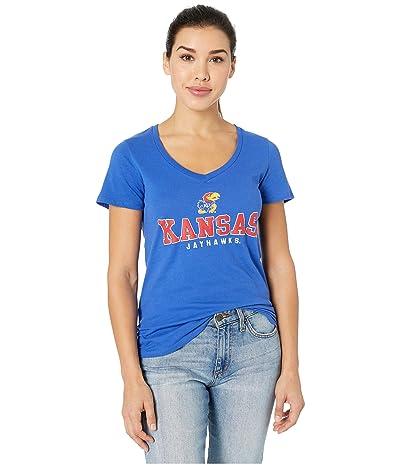 Champion College Kansas Jayhawks University V-Neck Tee
