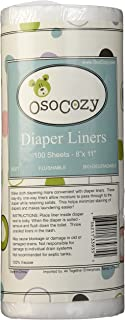 OsoCozy Flushable Diaper Liners - Make Cloth Diapering Convenient with Easy, Quick, Cloth Diaper Liners - Super Soft and G...