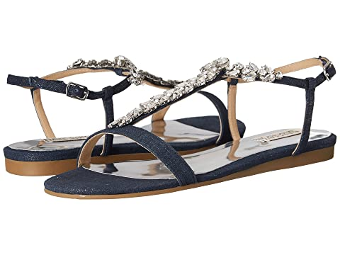 Womens Sandals Badgley Mischka Amuse II Navy Denim