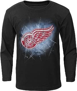 Outerstuff NHL Detroit Red Wings Boys Encased in Ice Long Sleeve Tee, Medium/(5-6), Black