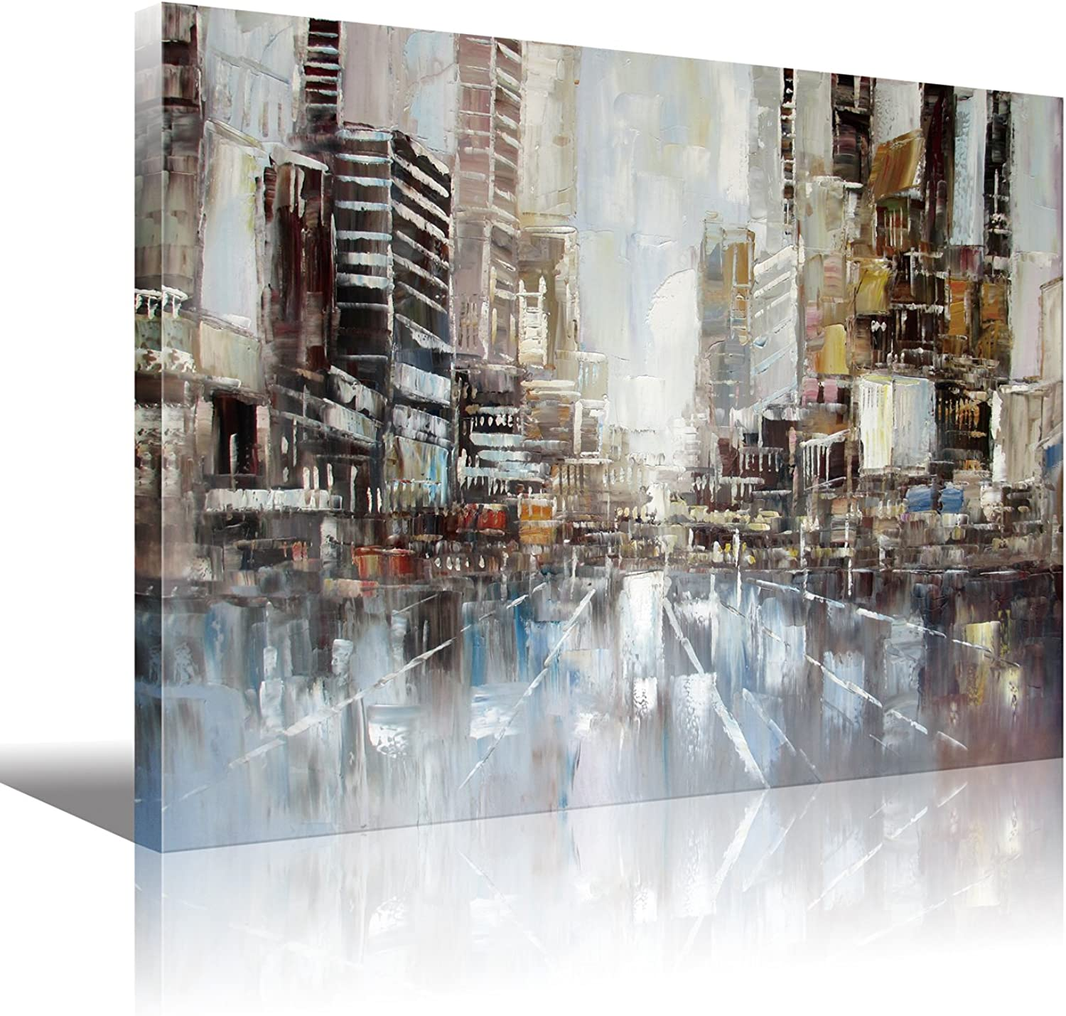 Wooden Framed New York City Abstract Paintings HD Print on Canvas for Bedroom,Large Size Canvas Art ,Office or Living Room Wall Art 30x40 inch(70x100cm) 1pc
