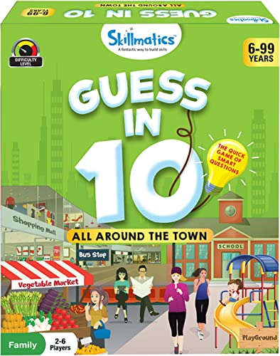 Skillmatics Educational Game: All Around the Town - Guess In 10 (Ages 6-99 Years) | Card Game of Questions | General ...