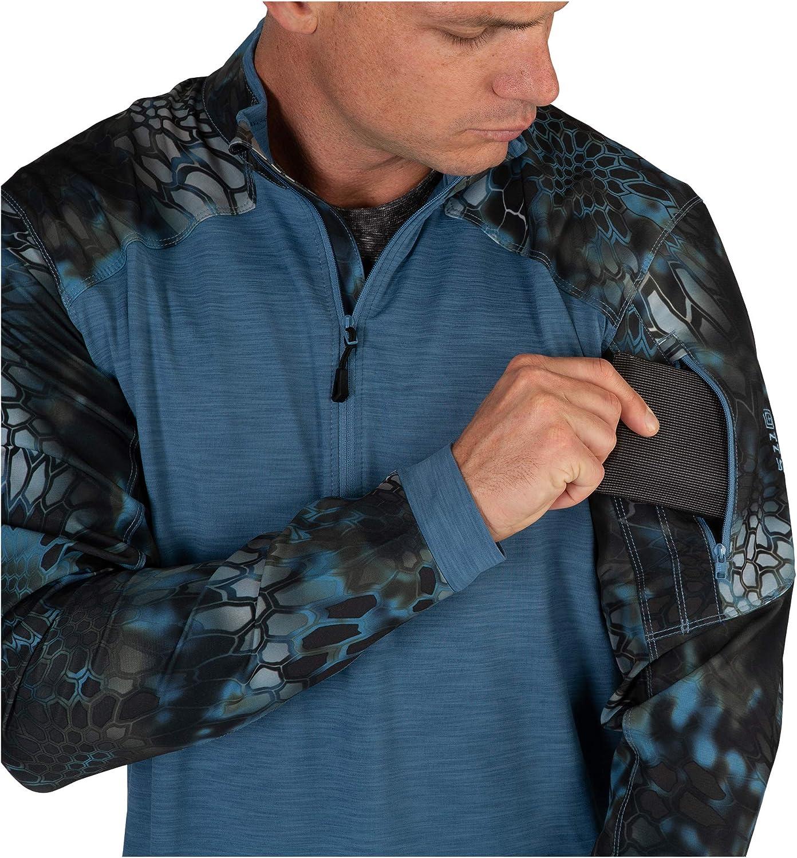 Shirt 5.11 Mens Rapid Quarter Zip Kryptek