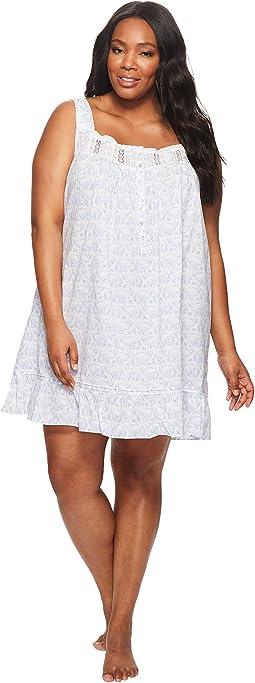 Eileen West - Plus Size 100% Cotton Lawn Short Nightgown