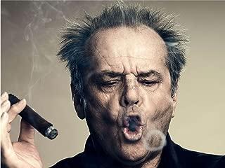 Doppelganger33 Ltd Photography Portrait Actor Jack Nicholson Cigar Smoke Ring Canvas Art Print