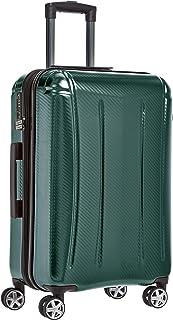 AmazonBasics Oxford Expandable Spinner Luggage Suitcase with TSA Lock - 26.8 Inch, Green