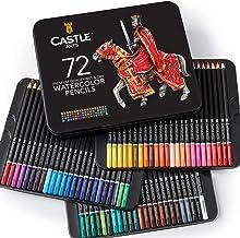 Castle Art Supplies - Juego de 72 lápices de acuarela, para adultos, apto para profesionales, de alta calidad, con colores vibrantes y hermosos efectos cuando se mezclan con agua