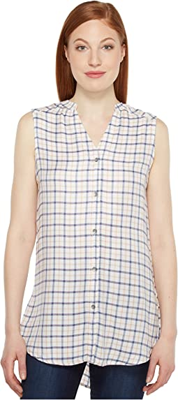 Aspen Sleeveless Top in Rayon Plaid