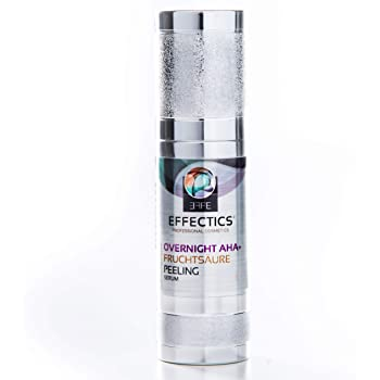EFFECTICS Fruchtsäurepeeling Overnight AHA (30ml) (AKTION/AKTION/AKTION) – von Effectics | mit 10% Mandelsäure | für alle Hauttypen – MADE IN GERMANY