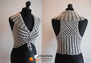 crochet easy vest bolero shrug by marifu6a: crochet easy vest bolero shrug