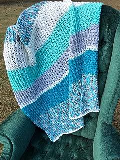 Handmade Color Block Afghan Throw Blanket