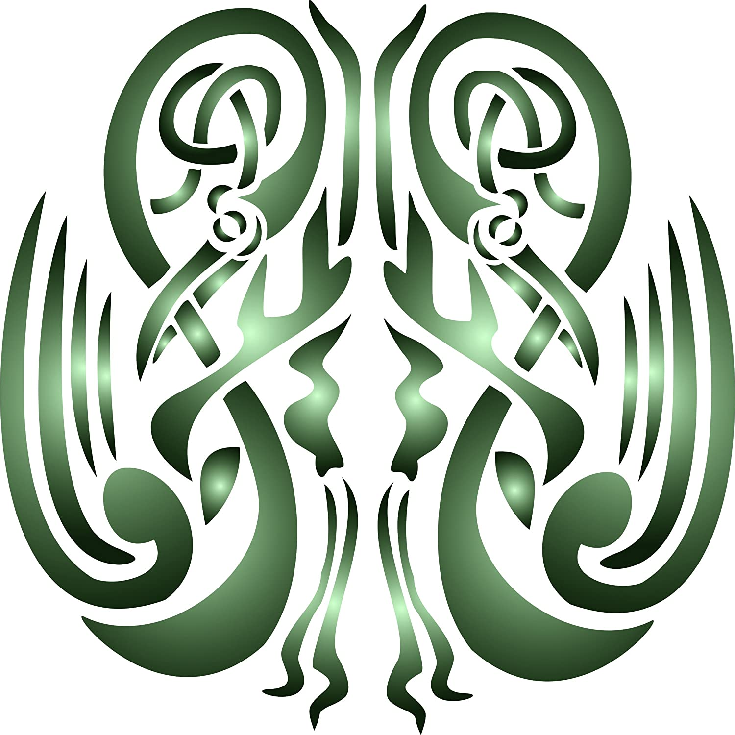 """Celtic Stencil - (size 10.5""""w x 10.5""""h) Reusable Wall Stencils for Painting - Best Quality Wall Art Décor Ideas - Use on Walls, Floors, Fabrics, Glass, Wood, Terracotta, and More…"""