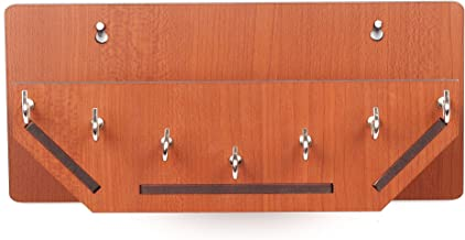Sehaz Artworks Boat Shelf MDF Key Holder (Size: 25 cm x 11 cm x 0.3 cm, Color: Brown)