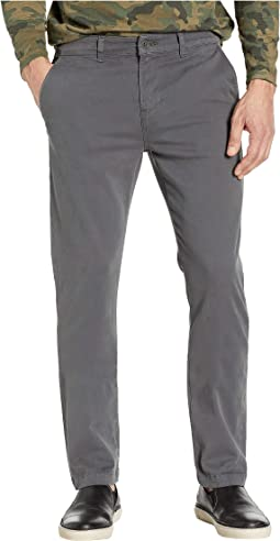 Classic Slim Straight Chino Pants in Asphalt
