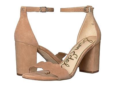Sam Edelman Odila Ankle Strap Sandal Heel (Camel Suede Leather) Women