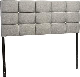 Baxton Studio Viviana Modern & Contemporary Fabric Upholstered Button Tufted Headboard, Queen, Grey