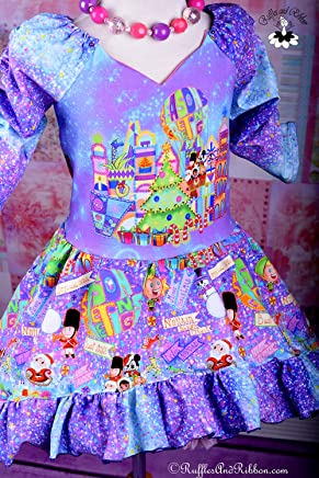 d5b228eb2cbe Size 6 - Size 7 - Handmade Dress - Christmas Dress - Girls Dresses - Girls