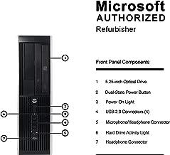 HP Elite 8300 mini PC Business High Performance Desktop Computer(Intel Core i7-3770 3.4GB,16G DDR3,240G SSD+3TB,DVD,Radeon 6350 HD+Dual DVI Cable,WiFi,Windows 10 Professional)(Renewed)