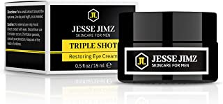 Triple Shot Restoring Eye Cream for Men, Antiaging Eye Balm to Reduce Fine Lines, Wrinkles, Puffiness, Dark Circles, Undereye Bags