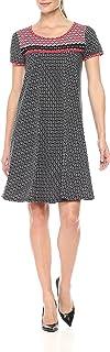 Amazon Brand - Lark & Ro Women's Short Sleeve Scoop Neck T-Shirt Dress