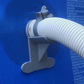 2 Soportes para Tubos de Piscina, Soporte de Color Gris para Tubos de 30 mm a 37 mm diseñados para Adaptarse a Piscinas Intex