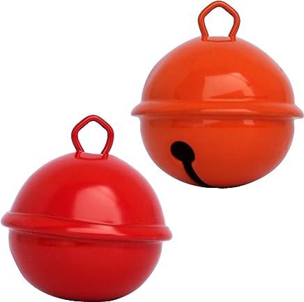 Beau son Grelots couleurs g/éants gros petits pour Montessori enfants bebe instrument Noel anniversaire chien d/écorations doudou 9 couleurs X3 tailles 35mm 25mm 15mm 27 pieces Grelots clochettes