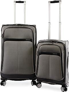 Perry Ellis 2 Piece Marquis Spinner Luggage Set, Herringbone, One Size