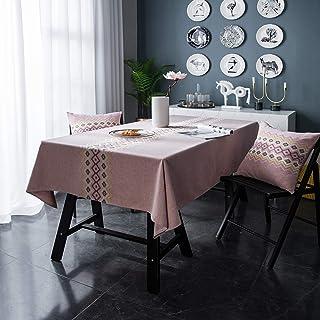 HAVIEANA Nappe Rose Nappe de Table à Manger Rectangulaire Linge de Table Polyester,140x220cm