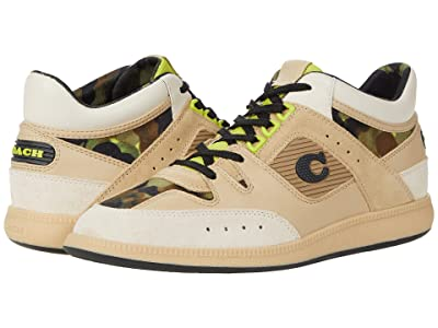 COACH CitySole Leather and Suede Camo Print Mid Top