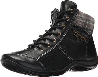 Walking Cradles Women's Atticus Ankle Boot, Black Leather, 10 M US